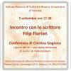 Scriitorul Filip Florian se va întâlni cu publicul italian
