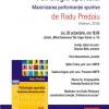 """Discuţie pe tema volumului """"Psihologia sportului. Maximizarea performanţei sportive"""", de Radu Predoiu, la Bucureşti"""