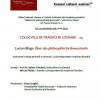 "Lansarea volumului de filosofie ""Lucian Blaga, Über das philosophische Bewusstsein"""
