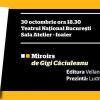 """Lansare de carte: """"Miroirs"""" – Gigi Căciuleanu"""