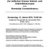 """Conferinţa """"Despre granița de est a Europei de Sud-Est și a Europei Centrale și de Est"""",  la Universitatea din Viena"""