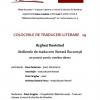 Colocviile de Traduceri Literare 29  – Arghezi Revisited
