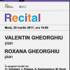 Valentin și Roxana Gheorghiu, pe scena Sălii Radio
