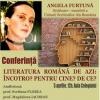 "Scriitoarea Angela Furtună susține conferința ""Literatura română de azi: Încotro? Pentru cine? De ce?"""