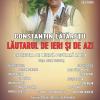 Concert și lansare CD Constantin Lătărețu, la Sala Radio