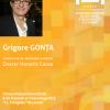 Grigore Gonța va primi titlul de Doctor Honoris Causa
