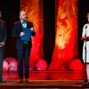 Preşedintele ICR, Liliana Ţuroiu, i-a înmânat compozitorului Vasile Şirli premiul de deschidere a Galei Celebrităţilor din Sibiu