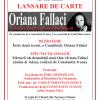 """Lansarea volumului """"Scrisoare unui copil nicicând născut"""" de Oriana Fallaci, la Cluj- Napoca"""