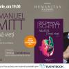 """""""Adolf H. Două vieți """"– două destine ale aceluiași om și o discuție despre problema răului și a responsabilității individuale, plecând de la un roman remarcabil semnat de Eric Emmanuel Schmitt, la Librăria Humanitas de la Cișmigiu"""
