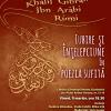 Despre iubire şi înţelepciune în poezia sufită, la Ceainăria Cărtureşti Verona