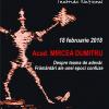 Academicianul Mircea Dumitru conferențiază la TNB