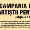 """Societatea Română de Televiziune și Societatea Română de Radiodifuziune –  parteneri ai UNITER în Campania Naţională """"Artiştii pentru artişti"""", 2018"""