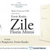 """Horia-Roman Patapievici și Erwin Kessler vorbesc despre cartea-album """"Zile"""", la librăria Humanitas de la Cișmigiu"""