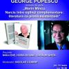 George Popescu lansează o monografie critică despre opera lui Marin Mincu