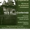 """Conferința de deschidere """"Parcul Filipescu – 100 de ani de arhitectură neoromânească"""""""