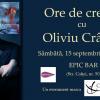 """""""Ore de creație – Ingredientele esențiale ale unui roman de calitate"""", cu scriitorul Oliviu Crâznic"""