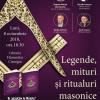 """Legende, mituri si ritualuri masonice"", la Librăria Humanitas Cişmigiu"