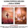 """Lansarea romanelor: """"Păsări și umbre""""  și  """"Ape spre nimic"""",  de Ileana Popescu Bâldea"""