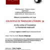 "Colocviile de Traduceri Literare 39 : ""At the Limits of Translations / La frontierele traducerii"""