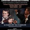 """Violonistul Valeriy Sokolov și dirijorul Christian Badea, într-un nou program din seria  """"Concertele Centenarului la Ateneu"""""""