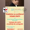 Întâlnire cu scriitorul Visar Zhiti, la Muzeul Național al Țăranului Român