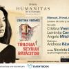 """Întâlnire cu scriitoarea Cristina Vremeș și romanul """"Trilogia sexului rătăcitor"""""""