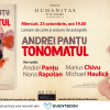 """""""Tonomatul"""", povestiri fantastice de Andrei Panțu – lansare cu Marius Chivu, Nona Rapotan și Michael Haulică"""