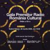 Spectacolul Galei Premiilor Radio România Cultural din 30 martie, de la Teatrul Odeon, a fost anulat