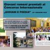 "15 premii obținute de România și Republica Moldova la Concursul Internațional ""Giovani e Poesia"" – ediția 2019/2020"