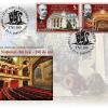 """Emisiunea de mărci poștale """"Teatrul Național din Iași, 180 de ani"""""""