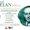 """Eveniment live & online: """"Paul Celan – 100 ani. Din și despre operă (lectură și comentarii)"""""""