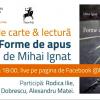"""Lansarea volumului de poezie """"Forme de apus"""", de Mihai Ignat"""