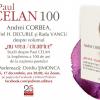 """Paul Celan 100. Live & online despre volumul """"nu vrea / cicatrice"""". Studii despre Paul Celan la împlinirea a 100 de ani de la nașterea poetului de Andrei Corbea"""