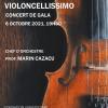 Ansamblul Violoncellissimo, în concert la Sala Félicien Cattier a Fundației Universitare din Bruxelles