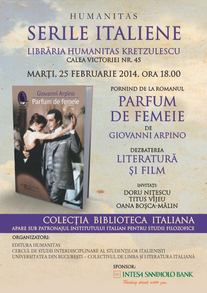Dezbatere De Carte și Film Parfum De Femeie De Giovanni Arpino