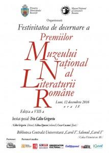 Premiile Muzeului Național al Literaturii Române, ediția a VIII-a