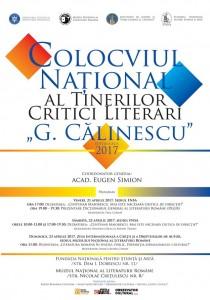 """Colocviul Naţional al Tinerilor Critici Literari """"G. Călinescu"""", ediția a XI-a, 2017"""