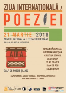 GALA DE POEZIE & JAZZ, ediția a IV-a, la Muzeul Național al Literaturii Române din București